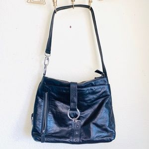 BOTKIER Black Leather Shoulder Bag